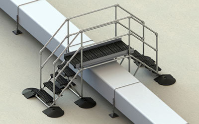 Freestanding large stepover platforms