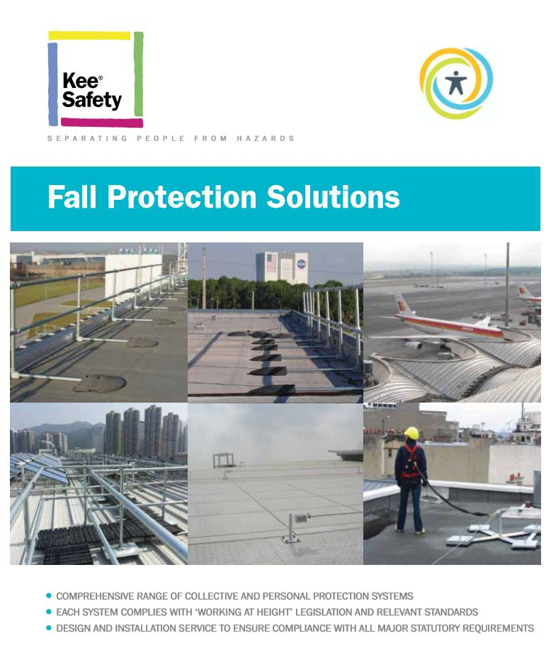 Fall protection solutions brochure cover