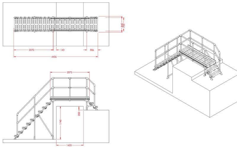 platform over pipework