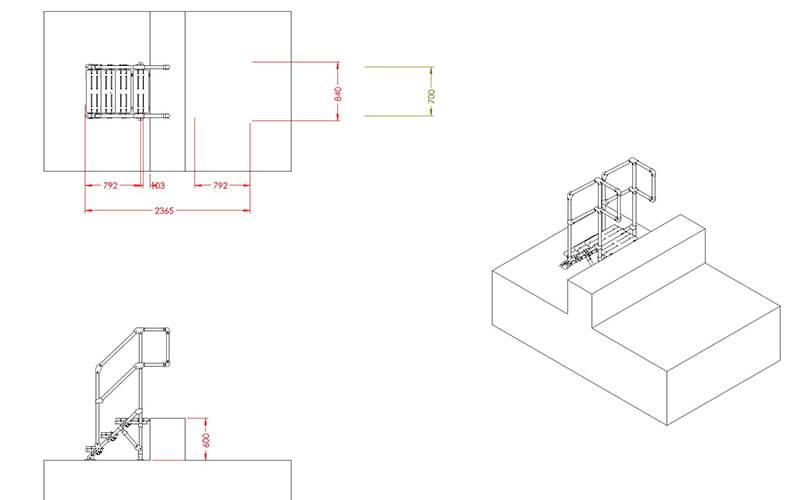 mini stepover platform drawing