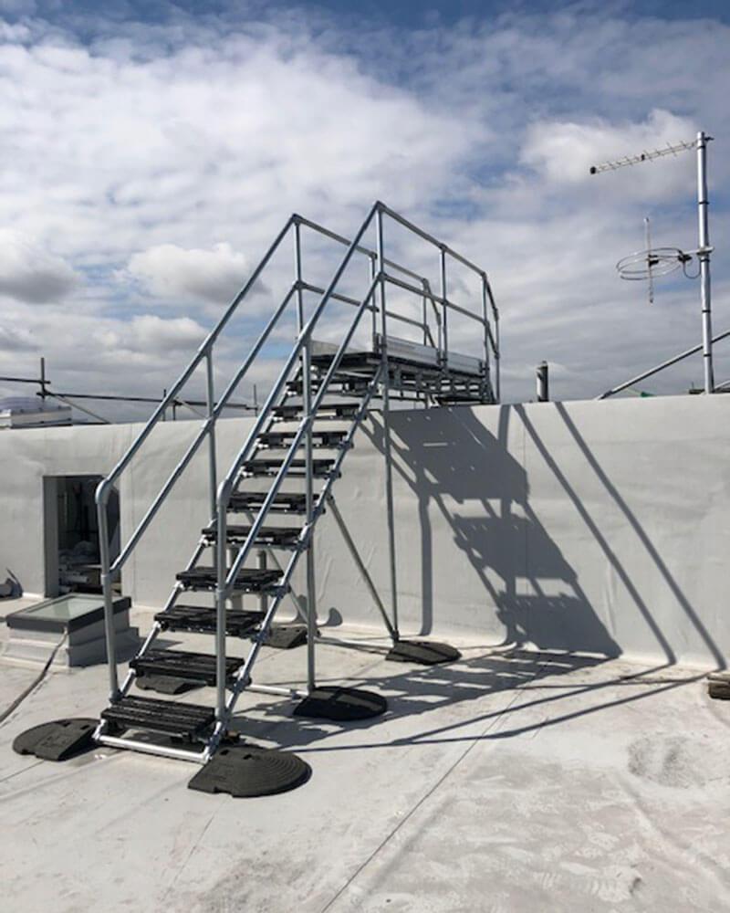 platform on flat roof