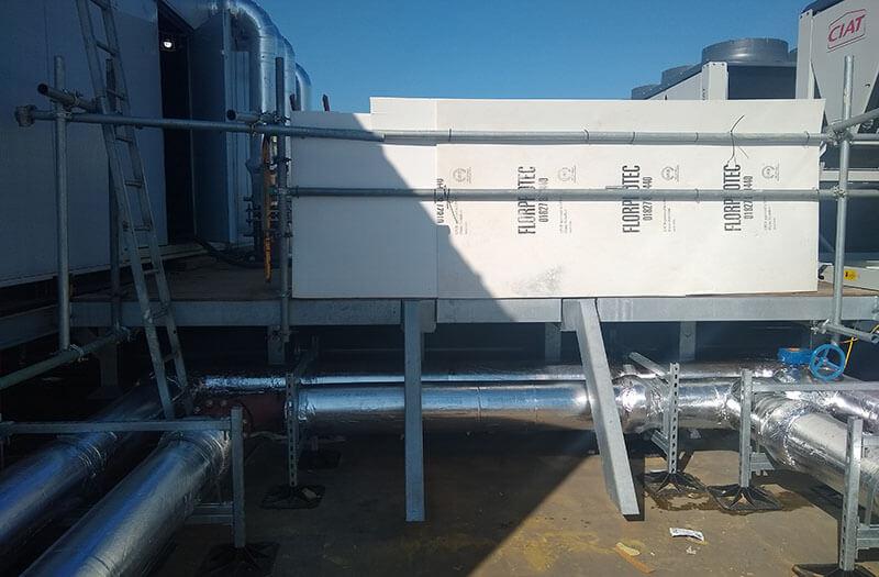roof before platform installation