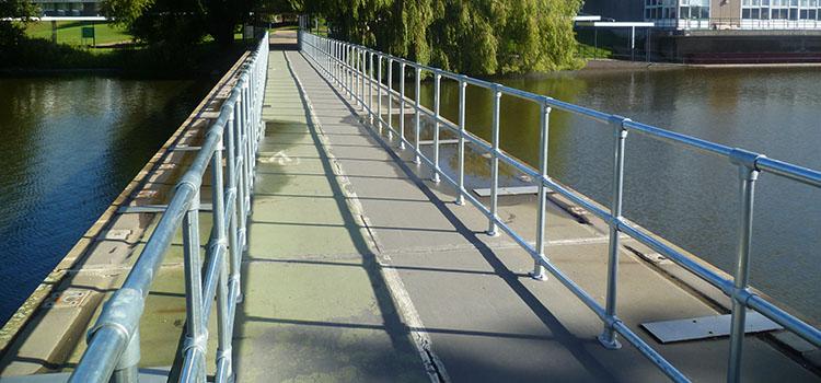 Ground-based handrail