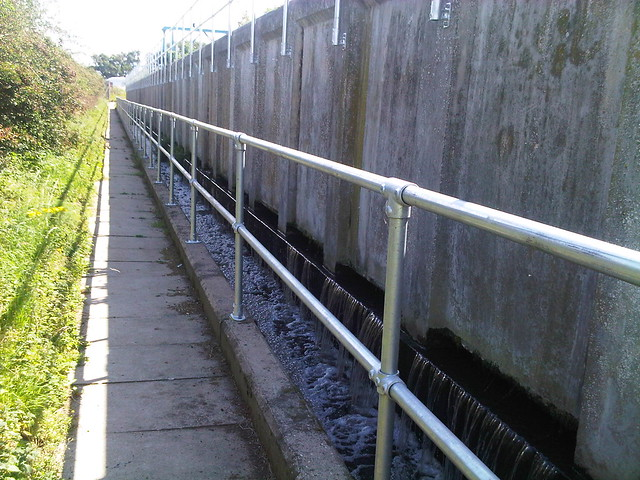 steel railing for water treatment facilities
