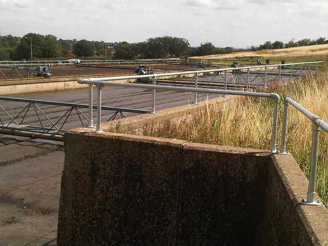 steel parapet railing