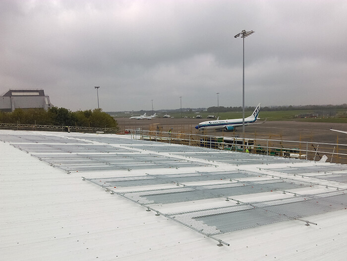 rooflight cover on airport building