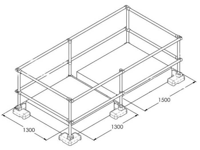 large skylight guardrail details