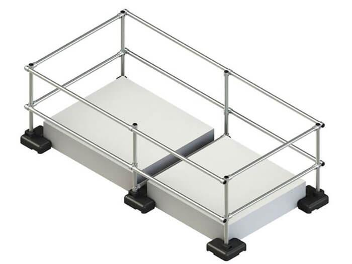 render for large skylight railing
