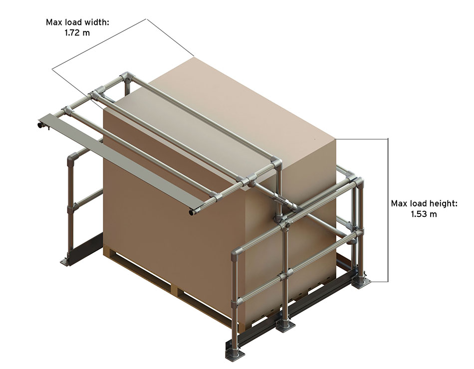 D type pallet gate max load dimensions