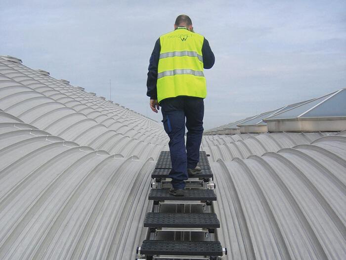 nylon treads for rooftop walkway