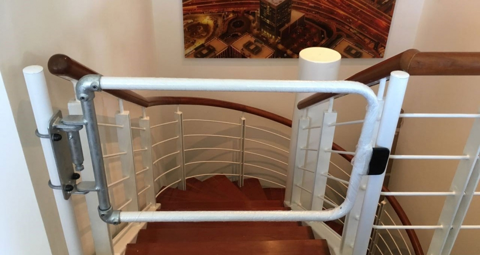 Self Closing Stair Gates For An Office Environment