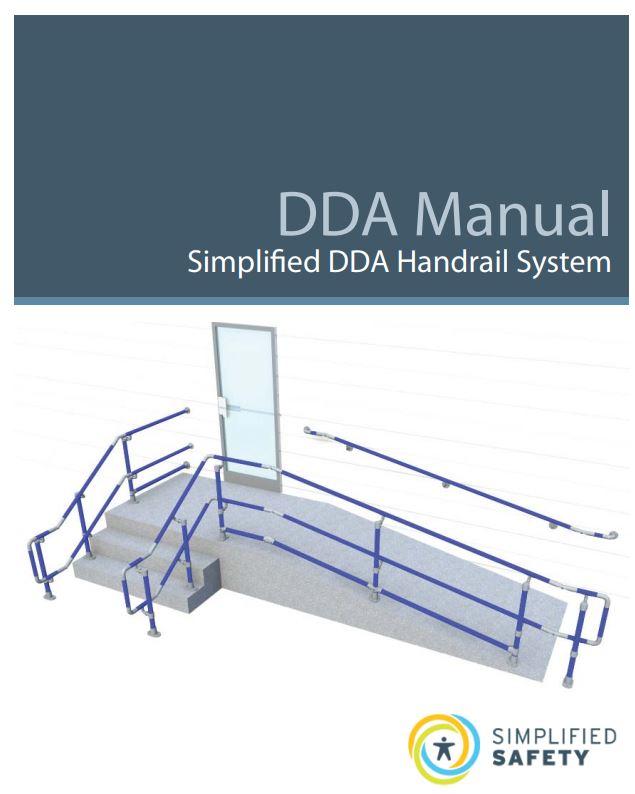 DDA handrail manual cover