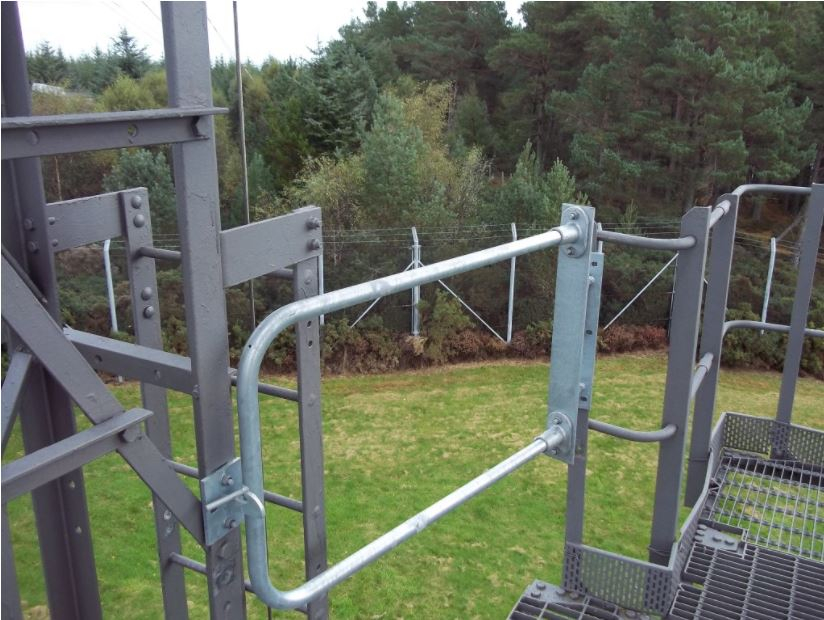 Galvanised steel safety gates telecomms