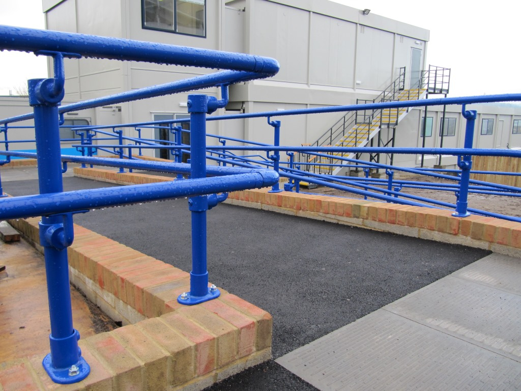 Polyester coated handrail