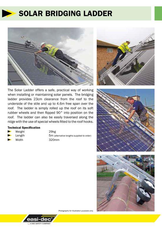 Solar bridging ladder brochure cover