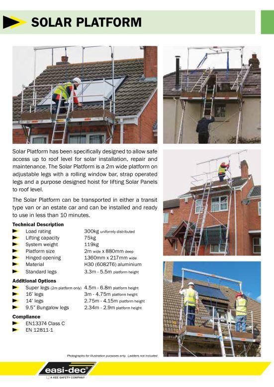 Solar platform 2m brochure cover
