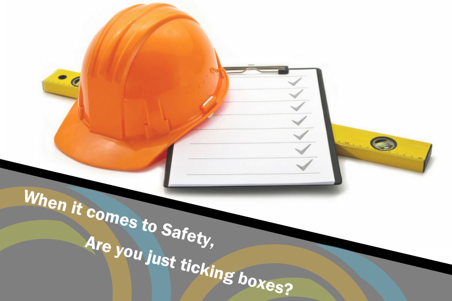 Safety work tick boxes