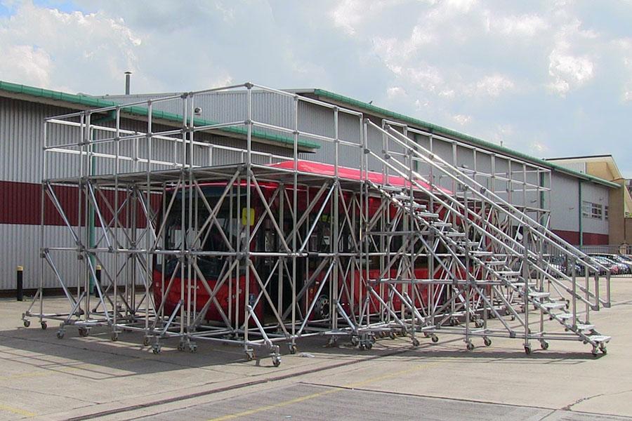 large fleet maintenance stepover