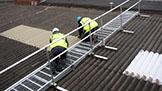 Guard rail around skylight