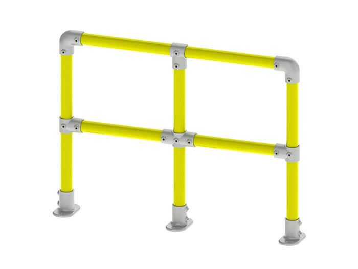 wall mounted pipe protection barrier